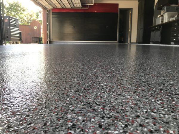 epoxy flake floor lifetime warranty flower mound texas